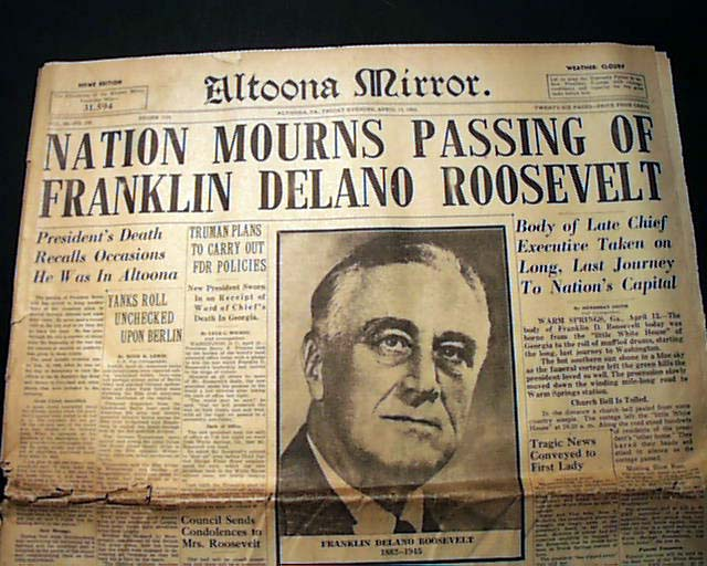a discussion on the assassination of franklin d roosevelt No, not her husband, president franklin delano roosevelt, but a brilliant,  after  eleanor's death in 1962, hick lived for 5½ more years, worn.