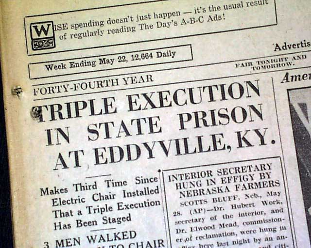 eddyville men Kentucky state penitentiary, located at eddyville,  governor blackburn appointed three men to adopt the general designs and arrangements of the penitentiary:.
