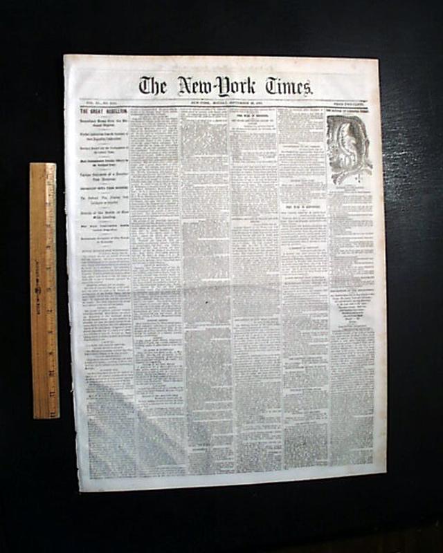 1861 Civil War Newspaper Liberty MO Missouri Battle of Carnifex Ferry