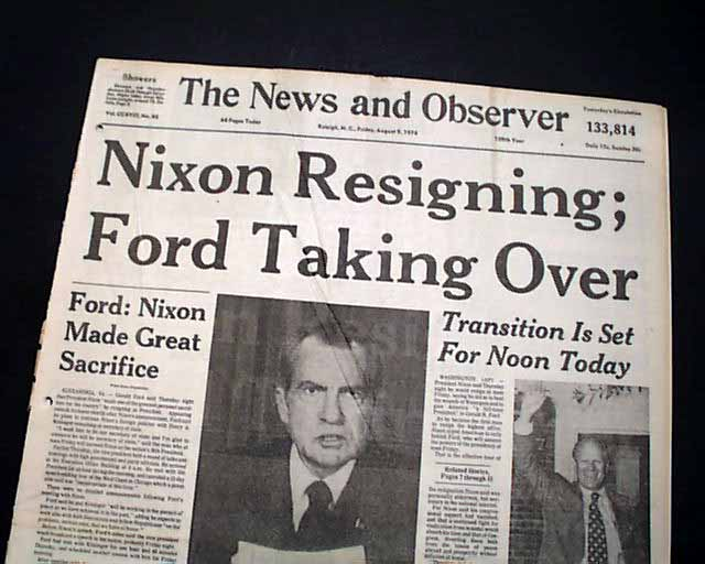 the resignation of president richard nixon essay Watergate: watergate scandal and president nixon essay the watergate scandal has turned out to be a very complicated series of crimes committed by president richard.