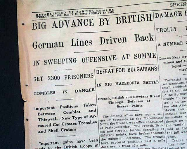 Battle of the somme in 1916 rarenewspapers com
