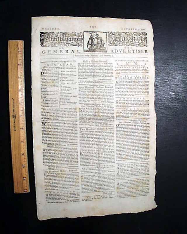 BENEDICT ARNOLD & John Paul Jones 1780 Revolutionary War PHILA. PA Old