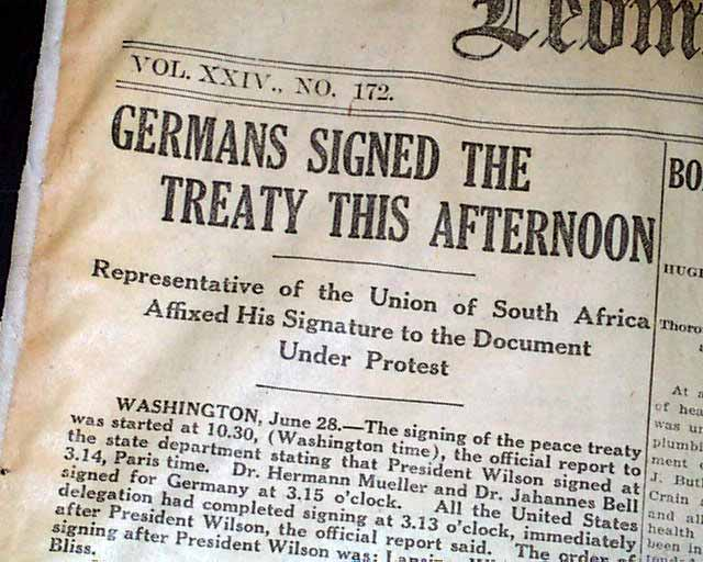 historians and treaty of versailles essay The treaty of versailles of 1919 is the peace treaty created as a  in germany the treaty caused a shock—that often historians refer to as a trauma or anti.