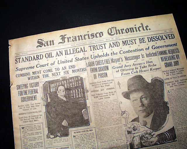 Historic Standard Oil anti-trust case... - RareNewspapers.com