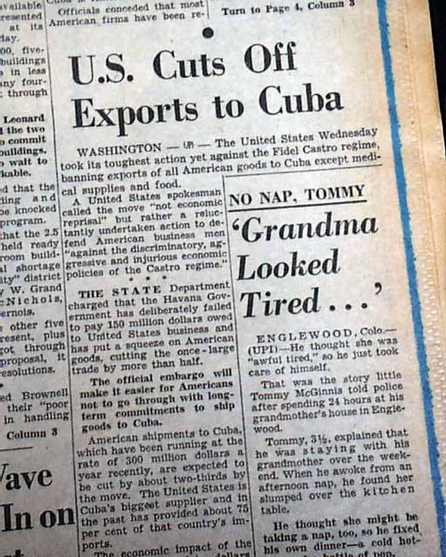 Effect of Cuban Embargo