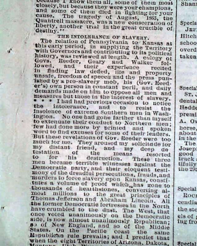 Bismarck Grove, Kansas old settlers' meeting ...