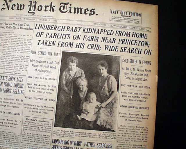 lindbergh kidnapping research papers Prosecution of the lindbergh kidnapping by our company and provided only as a model paper for research use to be properly cited as one source in any.