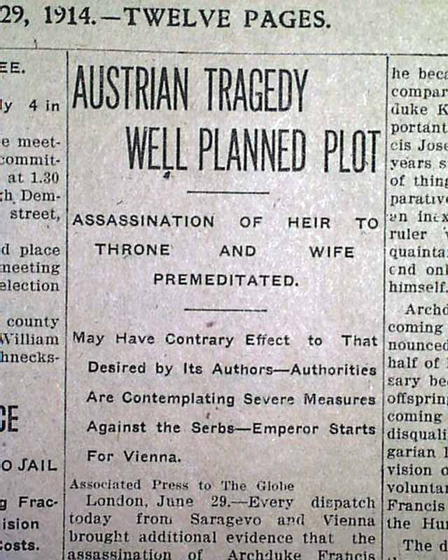 franz ferdinand newspaper articles For over 25 years, archduke franz ferdinand paced up and down in his palaces and castles waiting impatiently for the death of the ever more ancient emperor.