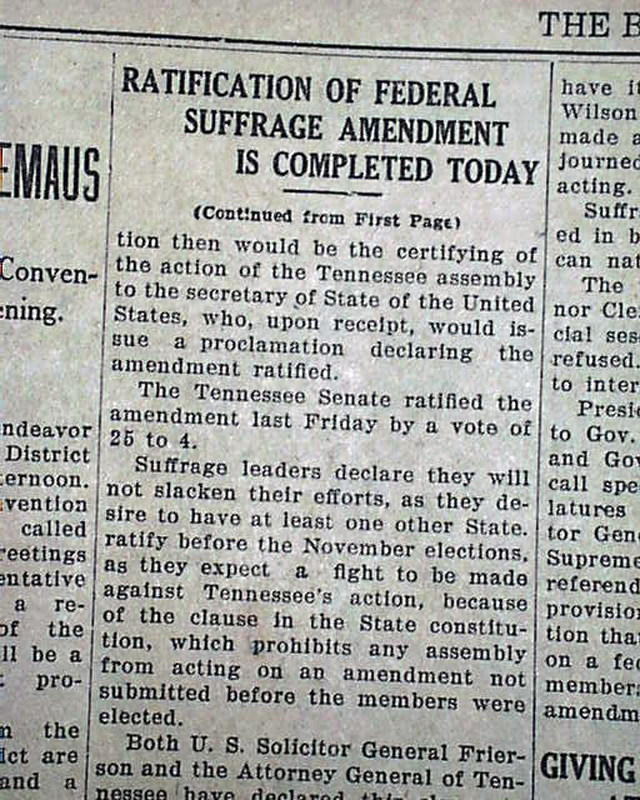 Suffrage wins in Tennessee... 19th - 506.0KB