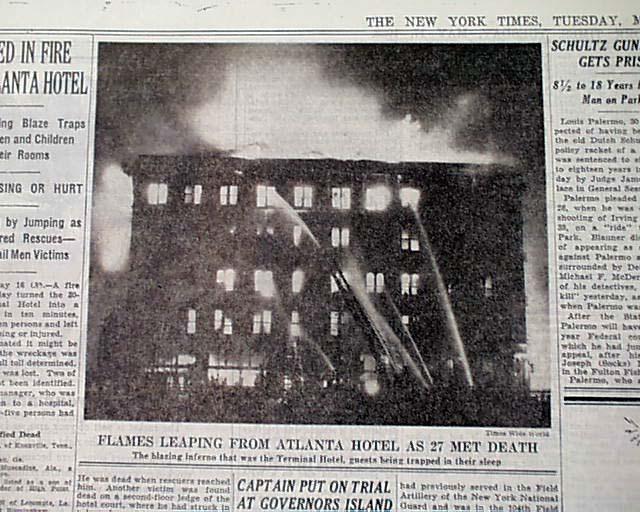 terminal hotel atlanta ga georgia fire amp roof collapse