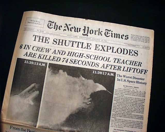 space shuttle challenger newspaper article - photo #9