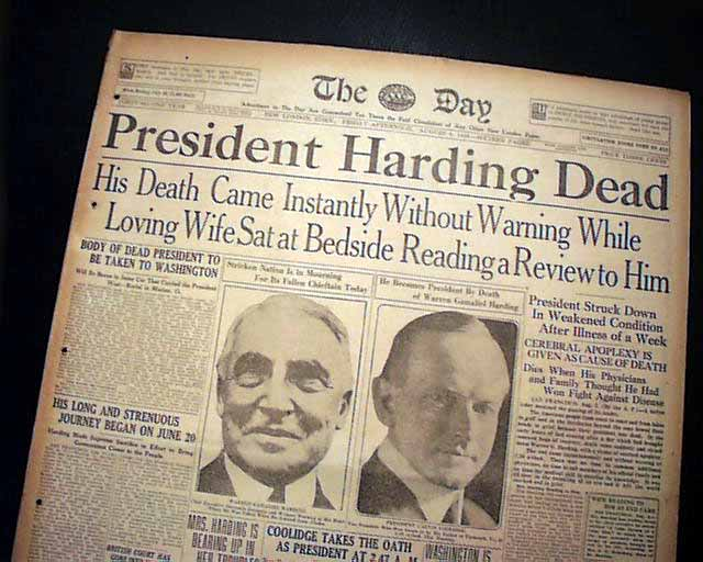 Image result for the death of president warren g. harding