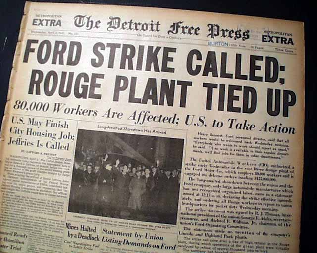 Best river rouge plant ford motor company strike 1941 for Ford motor company description