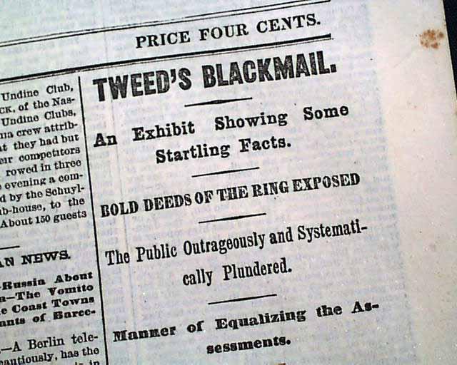 Boss Tweed Scandal Rarenewspapers Com