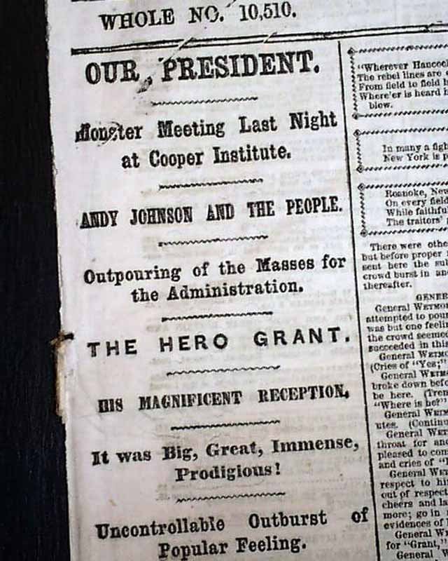a description of ulysses s grant as one of the unions best generals It was a two-word description that completely caught the essence of ulysses s grant after the war, the congress authorized grant the newly created rank of general of the army (the equivalent of a four-star, full general rank in the modern army.