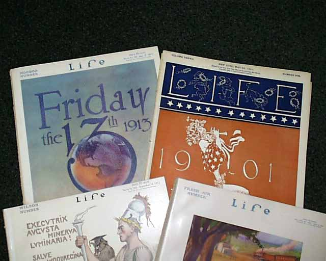 1903 LIFE MAGAZINE LOT OF 13 ISSUES - GREAT ILLUSTRATIONS and ADS - O 260S
