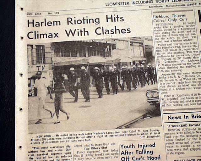 the ethnic riots of july 1964 essay This riot was one of the first in civil rights era, and after this 1964 rochester race riot and harlem riot of 1964 took place the philadelphia tribune which was the city's black newspaper, use to write several articles on police brutality and racial discrimination against african-americans.