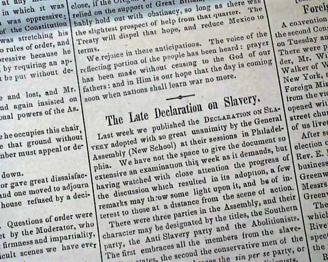 the mexican american war and the issues of slavery The compromise of 1850 acted as a temporary truce on the issue of slavery, primarily addressing the status of newly acquired territory after the mexican-american war.
