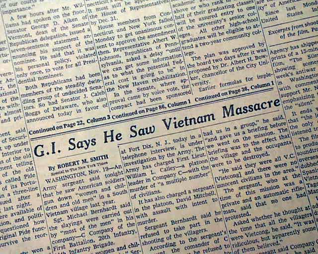 the my lai massacre essay Read this american history essay and over 88,000 other research documents the my lai massacre and its aftermath the my lai massacre and its aftermath resulting from.
