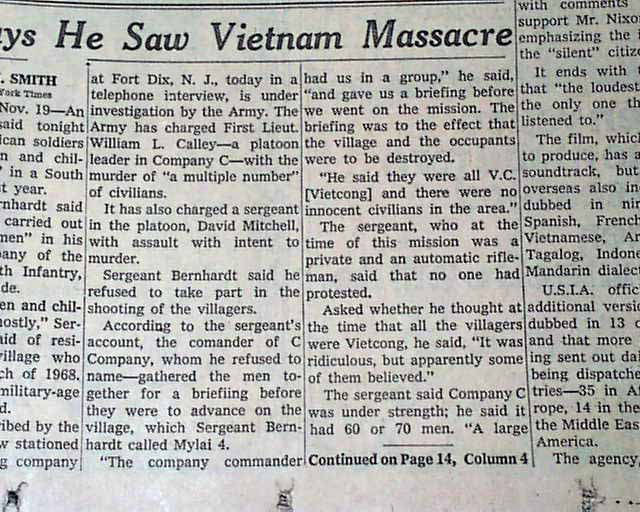 the my lai massacre essay