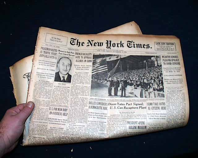 Great Gift Ideas >> Ellis Island Closes it's doors..... - RareNewspapers.com
