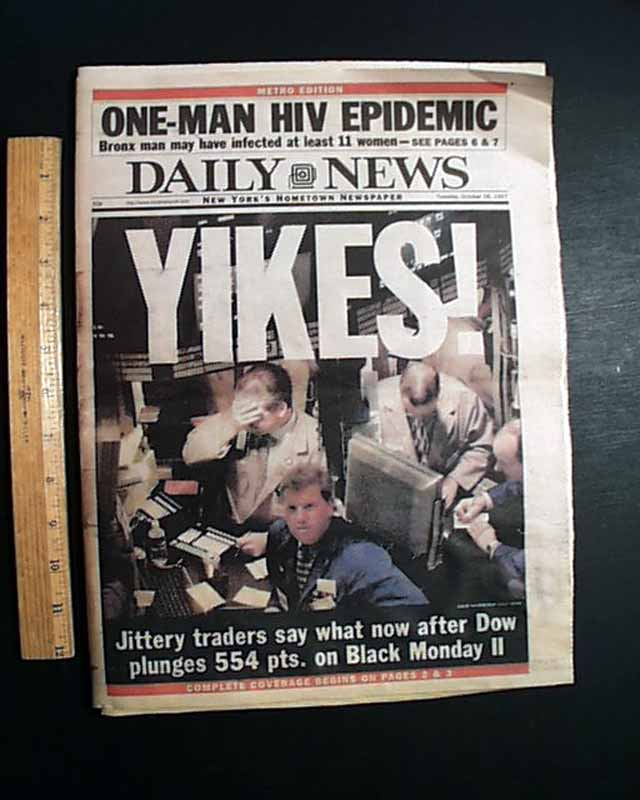 Black Monday Stock Market Crash 1997 Rarenewspapers Com