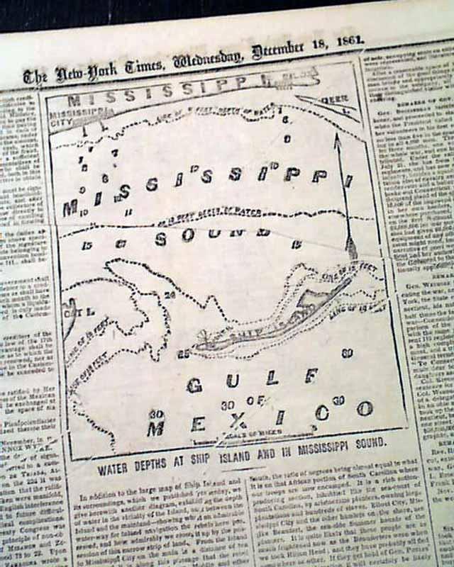 1861 Civil War Maps Charleston South Carolina