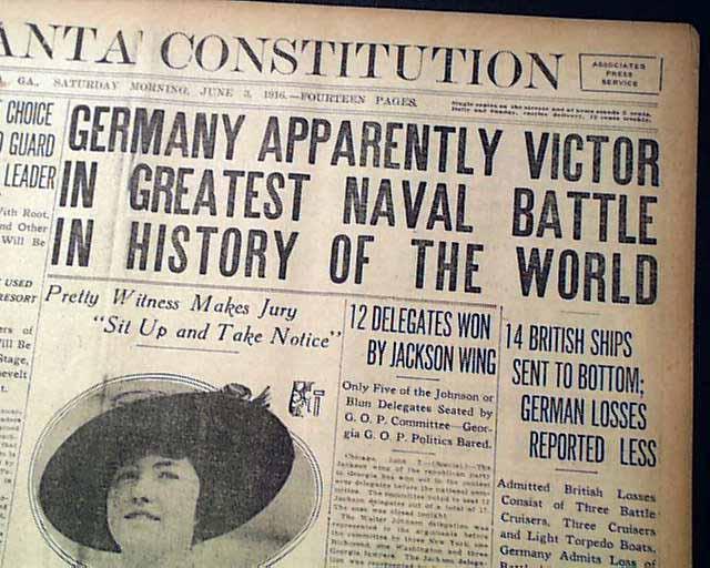 Battle Of Jutland    Wwi