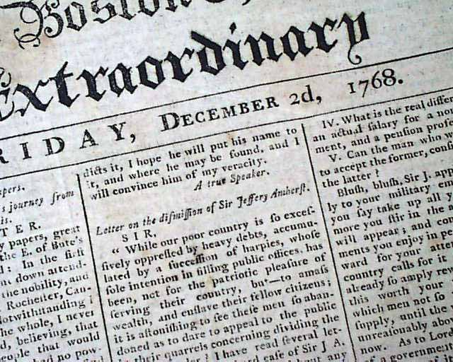 French and Indian War Newspaper Articles