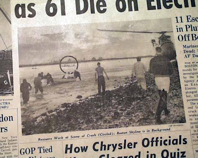 Flight 375 Airplane Crash Rarenewspapers Com