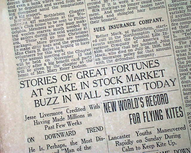 ben pomeroys paper on the stock market crash of 1929 Quizlet provides 1929 chapter 22 activities stock market crash 1929 -paper wealth evaporated.