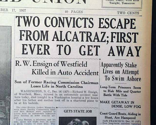 alcatraz history of escape attempts essay