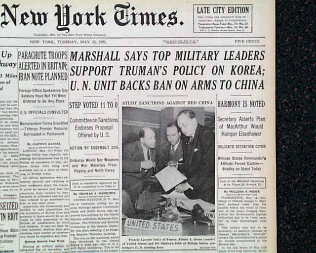 Korean War Newspaper Korean War Newspaper Headlines