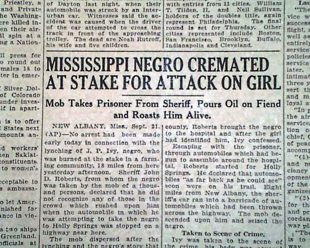 Mississippi burning paper