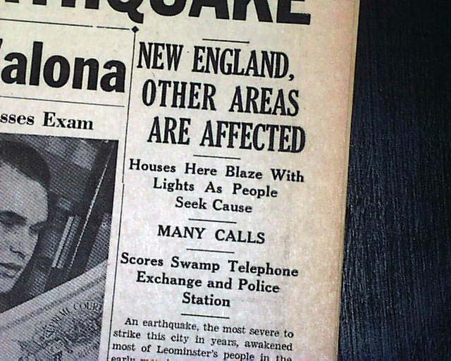 1940 New Hampshire earthquakes