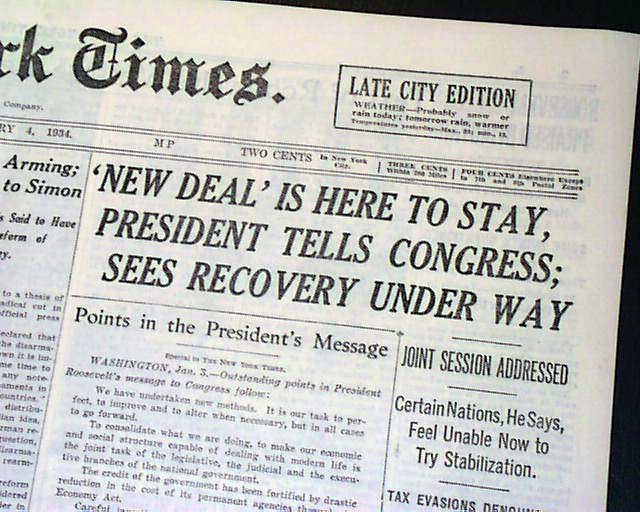 the new deal reforms essay