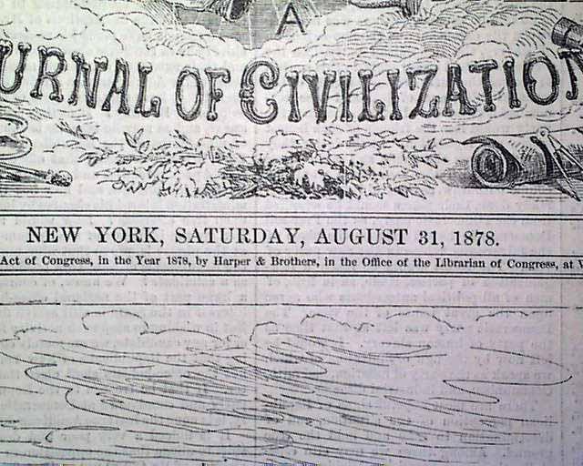 1889 AUGUST 31 HARPER'S WEEKLY MAGAZINE - NEWPORT CLUB-HOUSE YATCH CLUB - J 937
