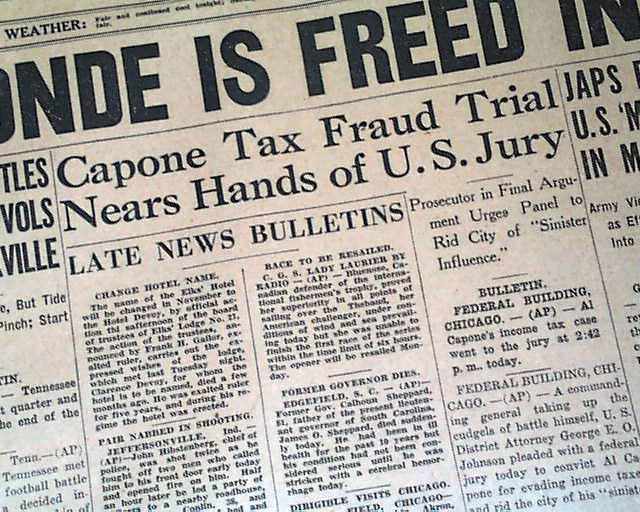 Al Capone tax fraud trial...