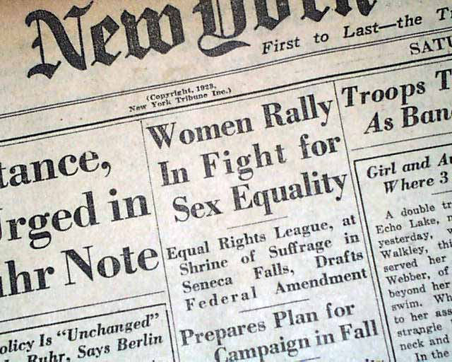 equal rights amendment defeated essay Why the equal rights ammendment was defeated essay 763 words | 4 pages world war ii was in progress, women would work in the factories while their husbands, brothers and fathers were fighting in the war the equal rights amendment essay.