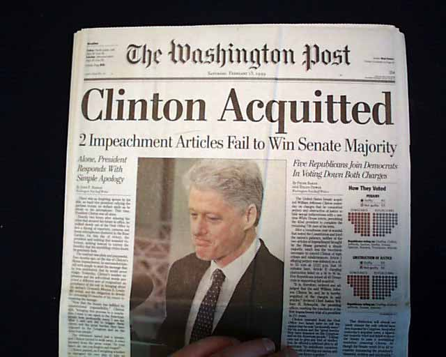 Image result for president clinton acquitted