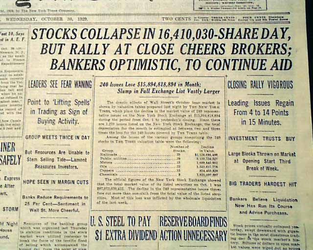 wall street crash of 1929 essay