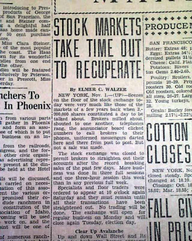 ben pomeroys paper on the stock market crash of 1929 The stock market crash of 1929: irving fisher was right ellen r mcgrattan and edward c prescott nber working paper no 8622 december 2001 jel no e62, g12, n22.