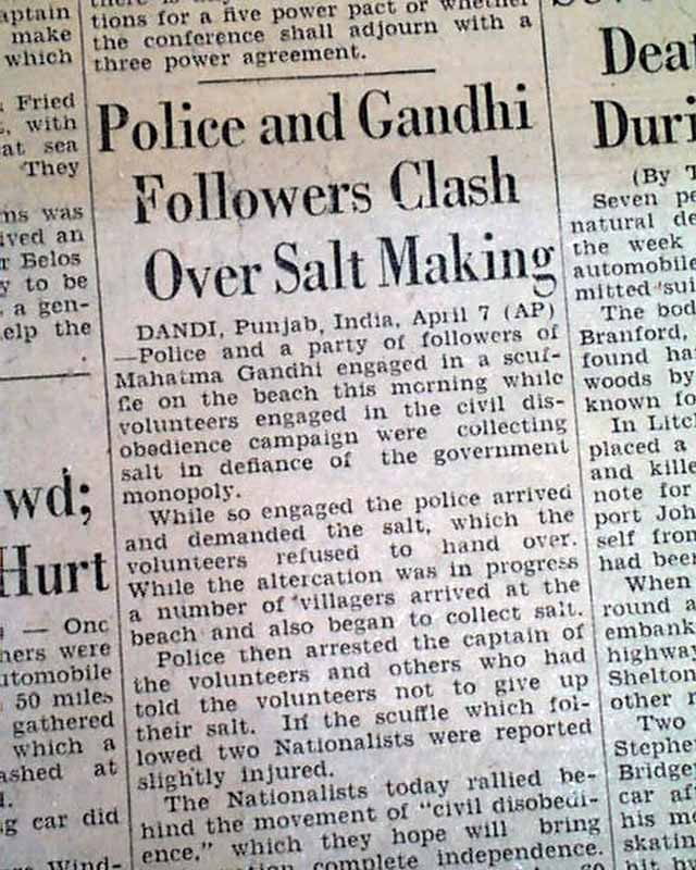 article on ghandi For gandhi, whose birth anniversary is monday, oct 2, nonviolent resistance   republish our articles for free, online or in print, under creative.
