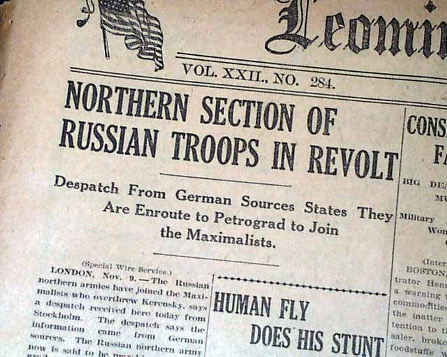 russian revolution of 1917   rarenewspapers