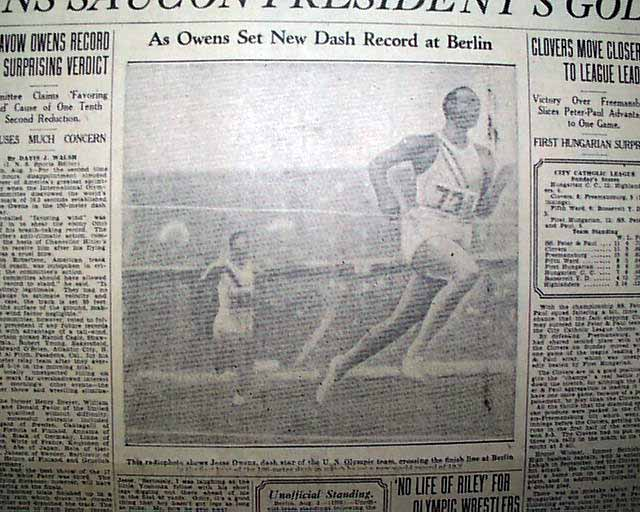 jesse owens annotated bibliography Us track star jesse owens spoiled adolf hitler's idea of aryan superiority when he won four gold medals at the 1936 berlin olympics.