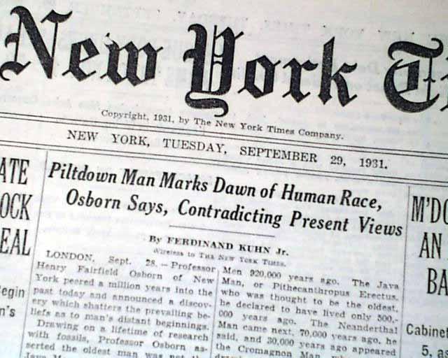Home > Piltdown Man Henry Fairfield Osburn