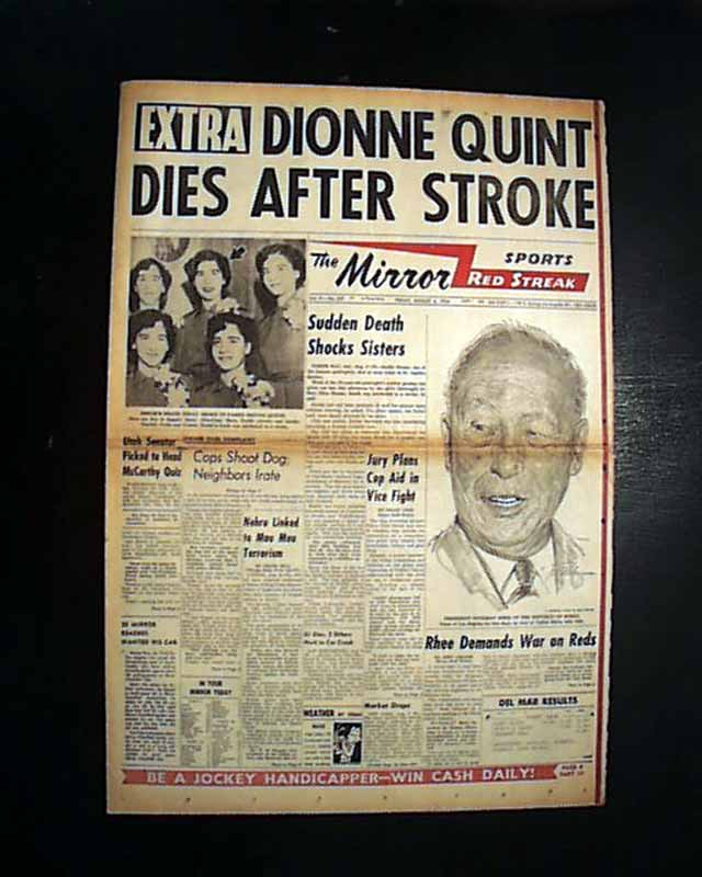1st of DIONNE QUINTUPLETS Emilie Marie Jeanne Death PHOTO ...  1st of DIONNE Q...