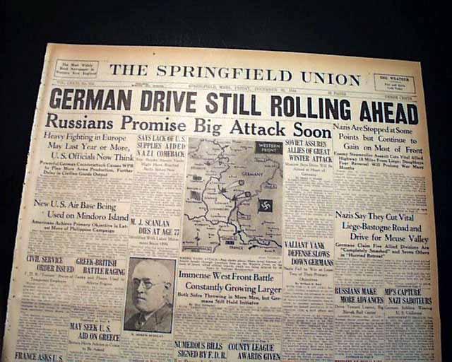 WWII Battle of the Bulge begins... - RareNewspapers.com