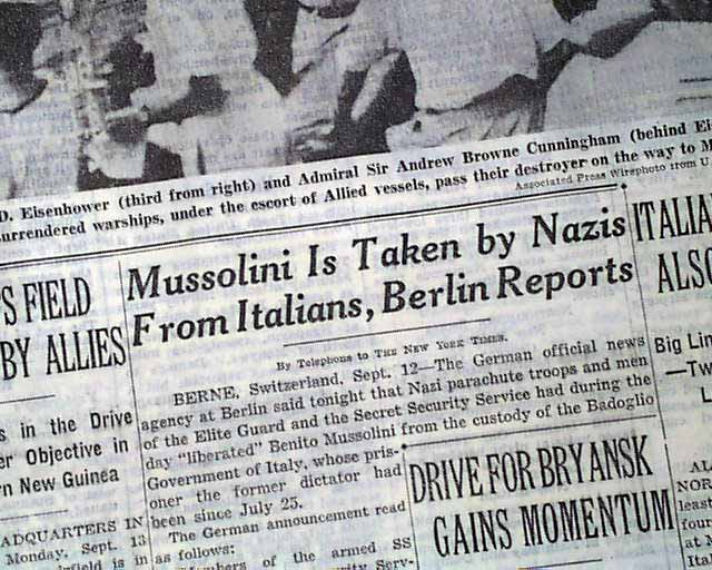 Image result for nazies rescue italy's mussilni