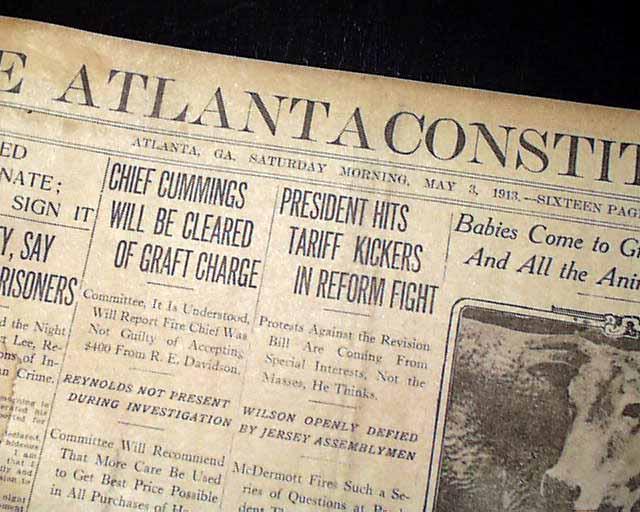 leo frank mary phagan murder 1913 atlanta ga newspaper ebay